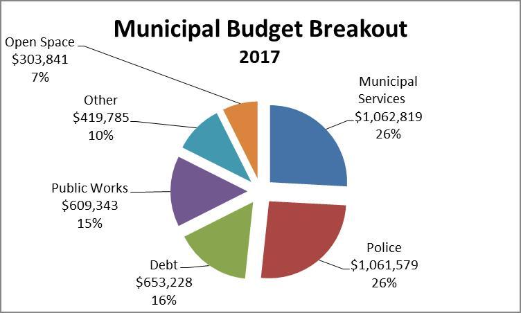 Municipal Budget Expesne Breakout Pir Chart